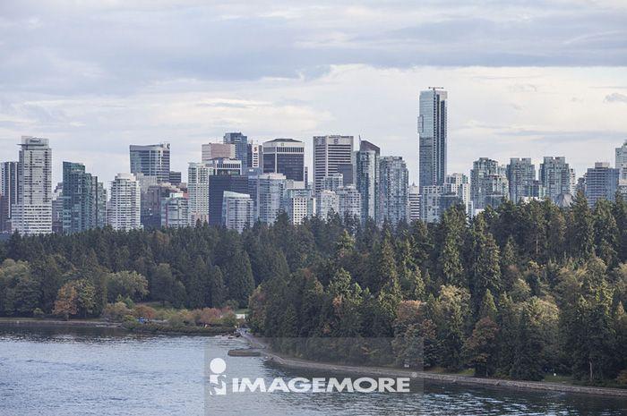温哥华,加拿大,北美洲,城市远景,