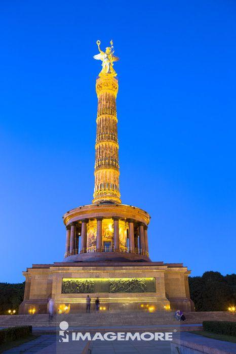 胜利纪念柱,维多利亚雕像,柏林,德国,欧洲,