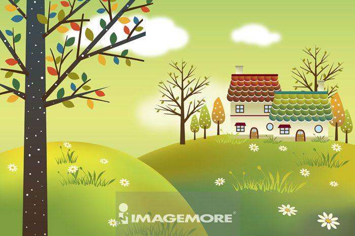 插画和绘画,乡村