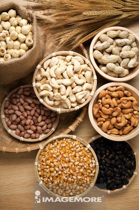 腰果,花生,玉米,莲子,黑豆,
