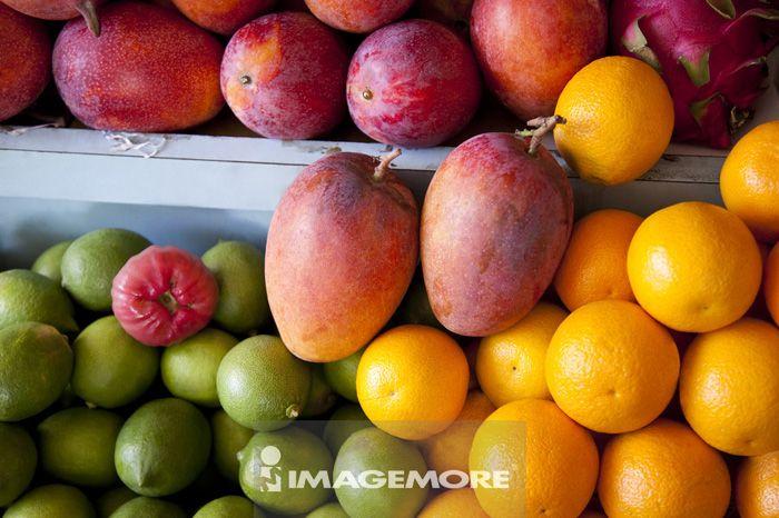 芒果,柳橙,柠檬,水果,台南,台湾,亚洲