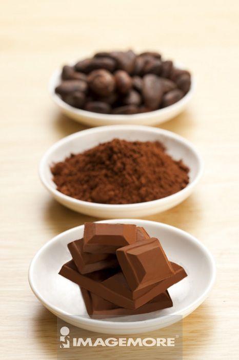 巧克力,可可豆,可可粉