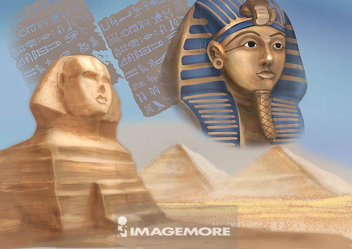 埃及文化,狮身人面像,黄金面具,图坦卡蒙王,黄金,面具,金字塔,金字塔