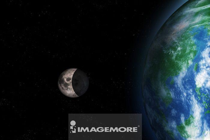 月亮,地球