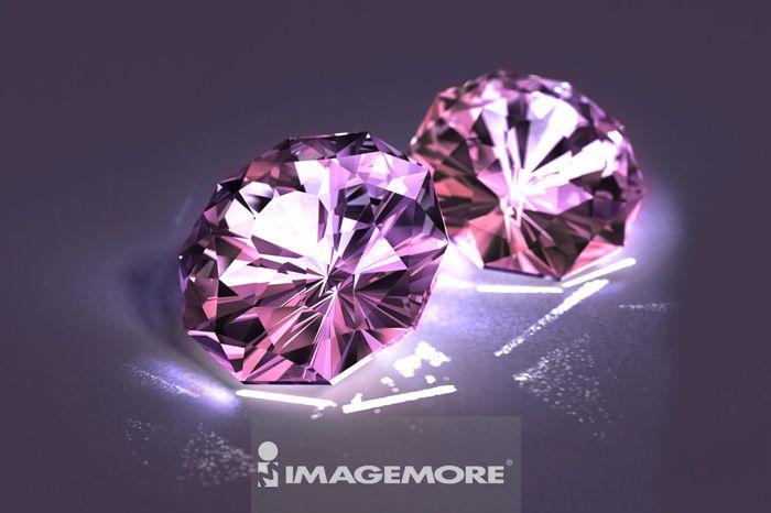 插画,钻石,粉红色,