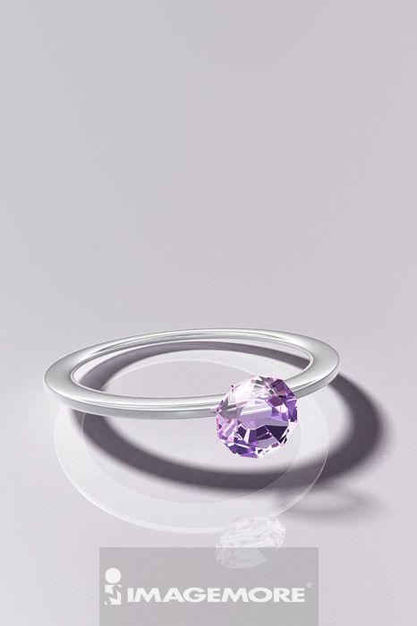 插画,钻石戒指,