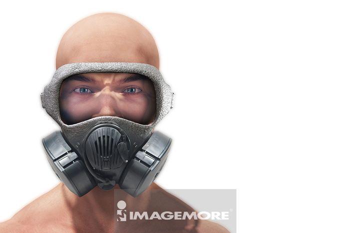 防毒面具,插画