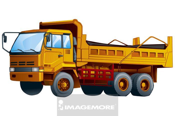 卡车,插画,