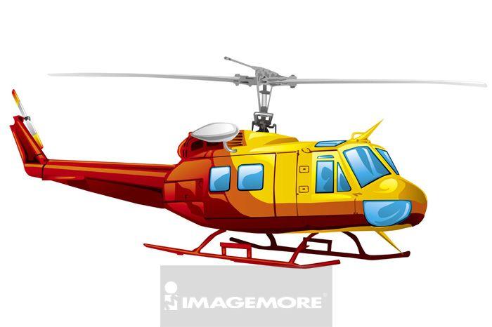 直升机,插画