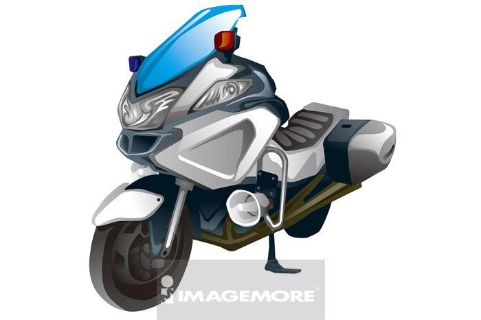 摩托车,插画,