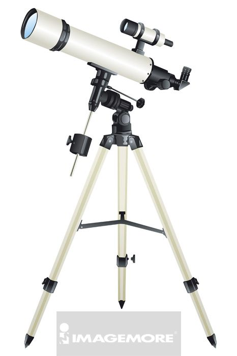 插画,天文望远镜,望远镜,