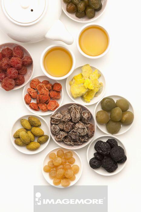蜜饯,金桔,白话梅,红话梅,咸橄榄,番石榴干,脆梅,甘草梅,黑枣,