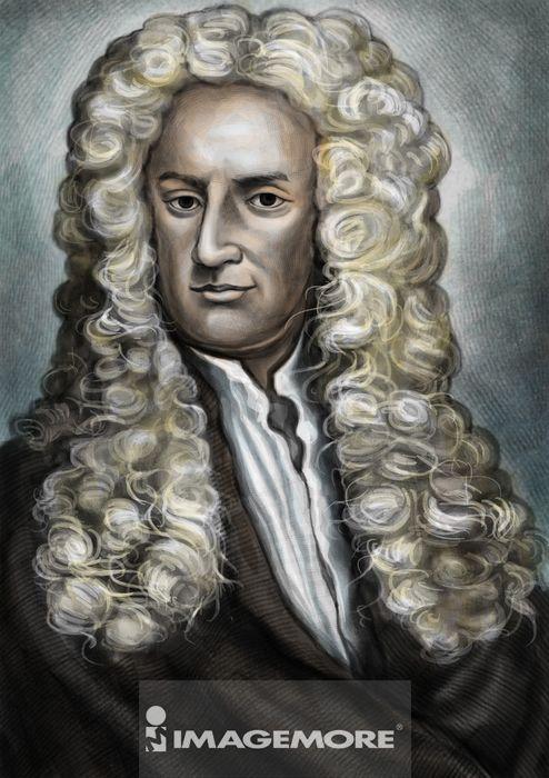 牛顿,人物画像,