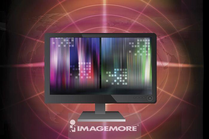 液晶显示器,电脑绘图,数码合成,