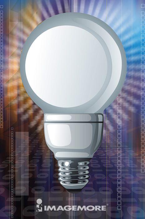 电灯泡,电脑绘图,数码合成,