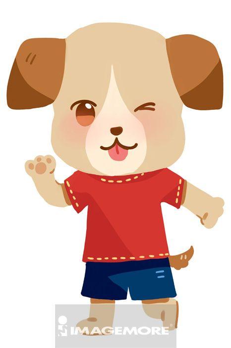 狗,拟人化_乐乐简笔画