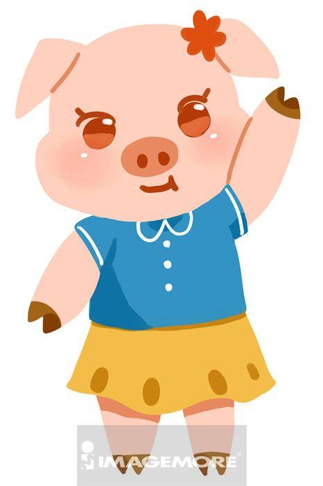 猪,拟人化