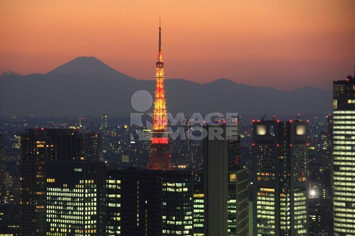 东京铁塔图片 远景