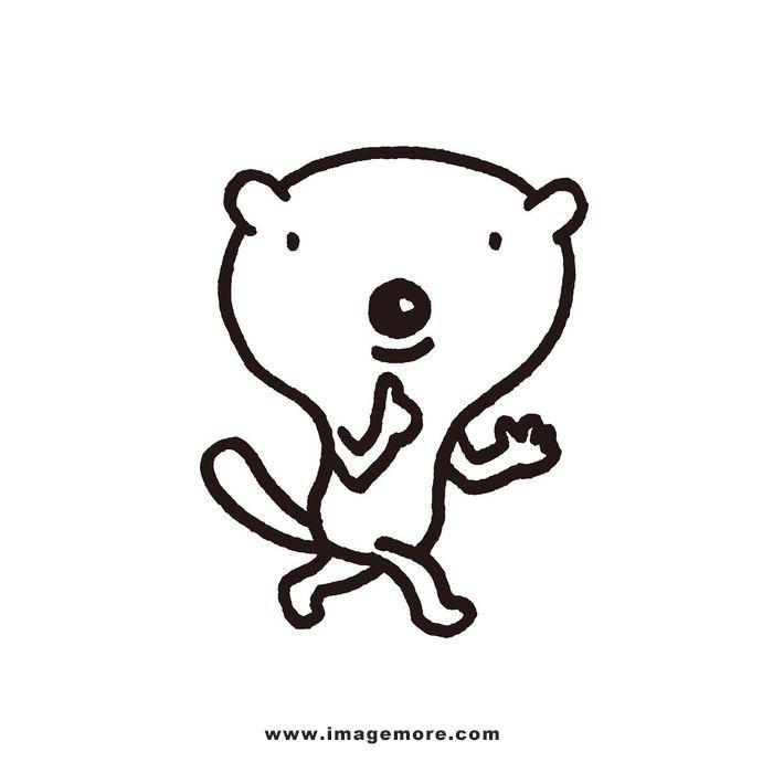 动物,修剪,可爱,去背,插画,材料,一个,图片,放松,秘密,白色,白背景,ao