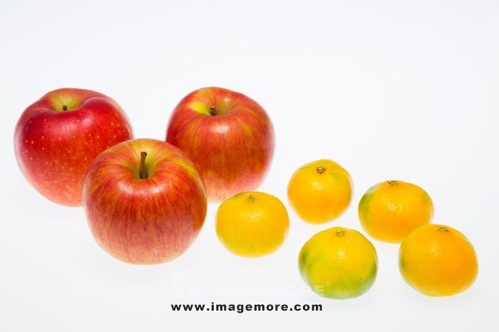 Apples and tangerines,