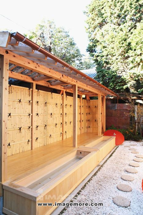 Foot spa in Kawagoe, Japan,