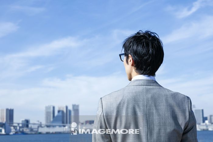 Japanese businessman downtown Tokyo, Japan