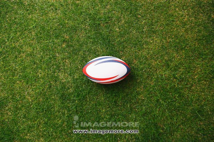 Rugby ball on grass,