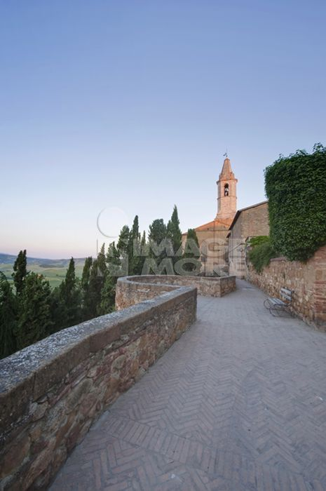 Pienza Cathedral at Dawn