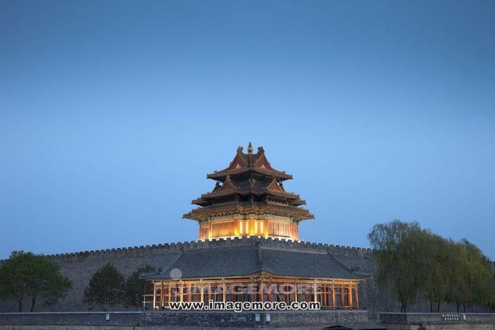 北京,北京故宫,角楼,