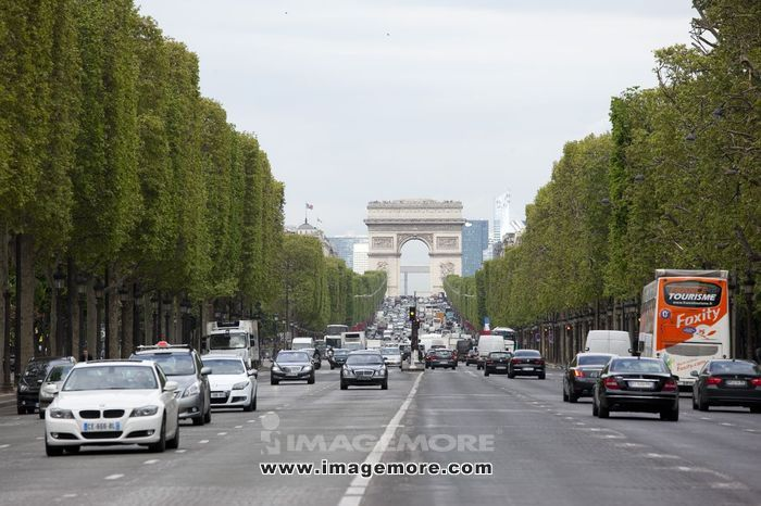 巴黎香榭丽舍大道凯旋门