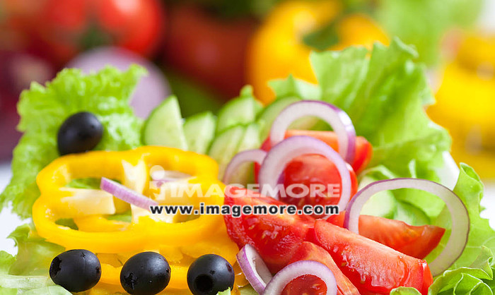 healthy food fresh vegetable salad,