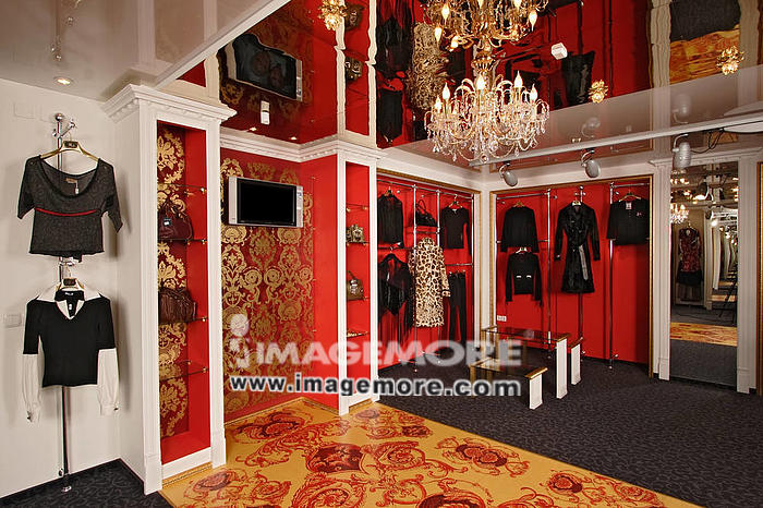 Interior of a fashionable boutique,