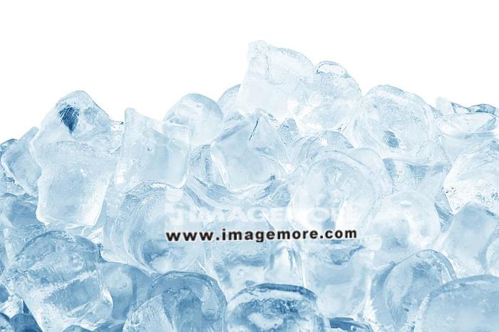 Ice cubes  isolated on a white background ,