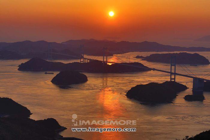 Seto Inland Sea at sunset