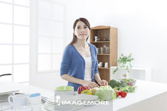 厨房,女性