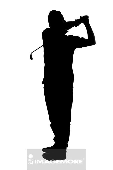 剪影,高尔夫,