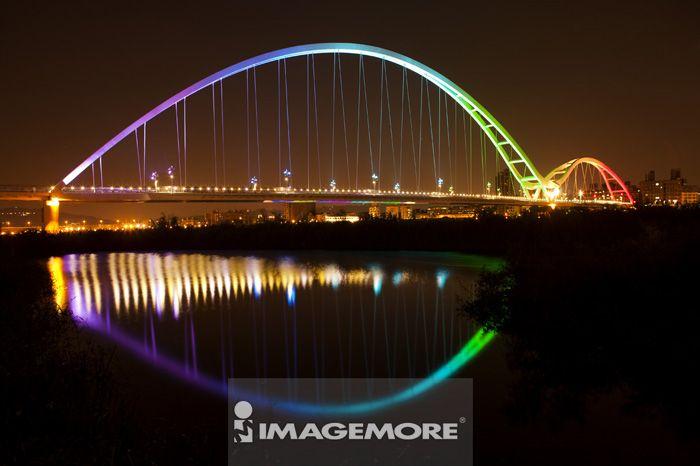 新月桥,桥梁,台北,台湾,亚洲,