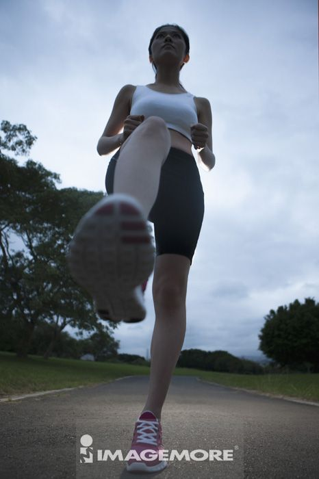 慢跑,青年女人,运动图片