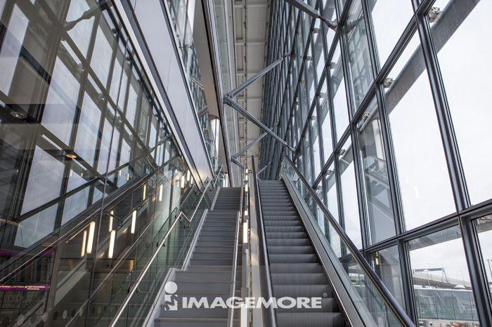 手扶梯,飞机场,交通,柏林,德国,欧洲,