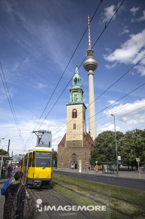 圣母教堂,亚历山大广场,柏林,德国,欧洲,