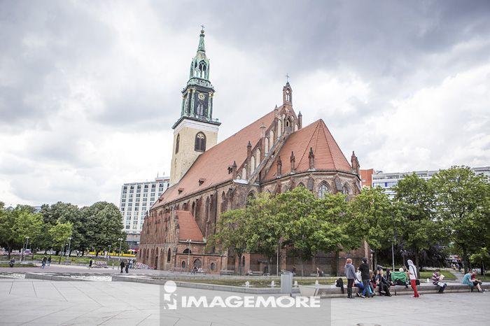 圣母教堂,亚历山大广场,教堂,柏林,德国,欧洲,