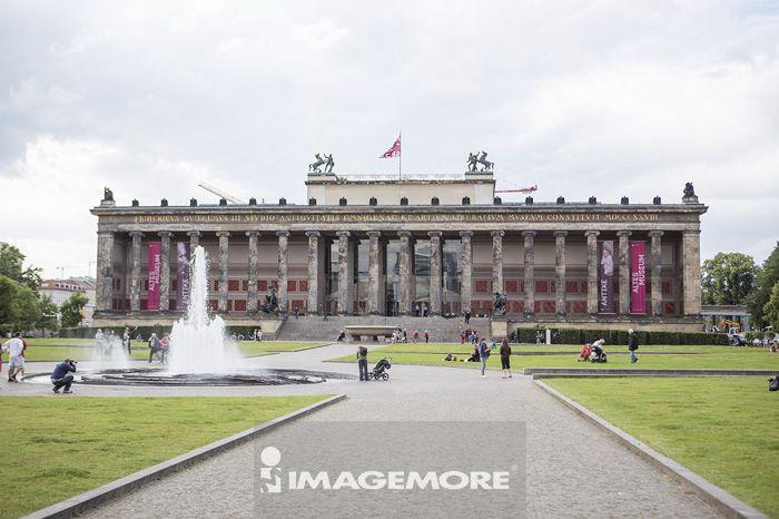 布兰登堡门,喷水池,柏林,德国,欧洲,