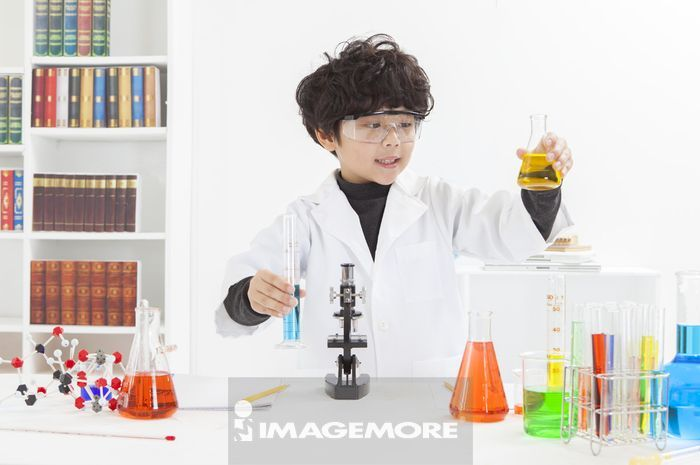 男孩,科学实验,儿童