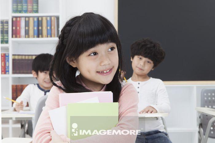 教室,儿童,