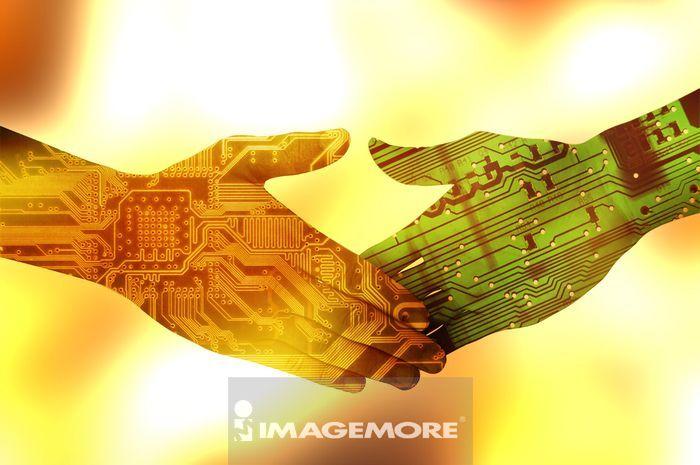 握手,数码合成,