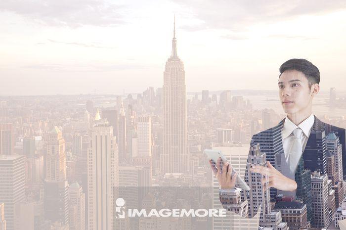 纽约市,美国,都市景观,男性,