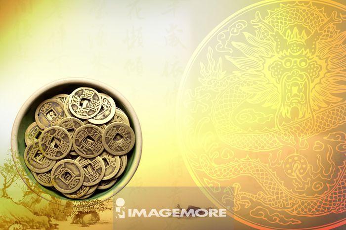 铜钱,货币,中国风,古钱币,