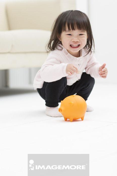 幼教,女婴儿,储蓄,