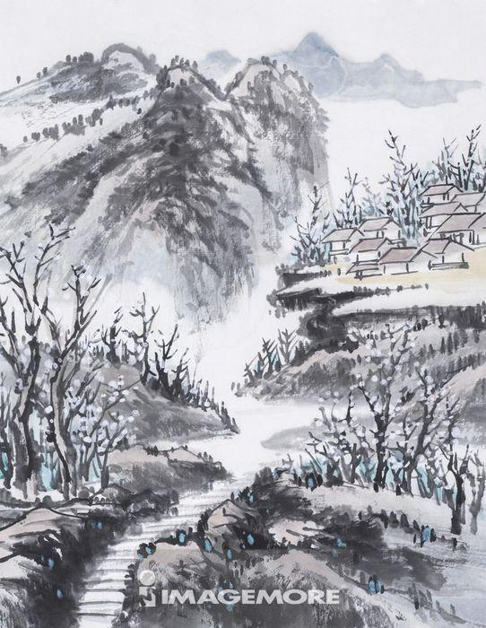 国画,山水画,水墨画高清合法正版商业图片 IMAGEMORE上海富昱