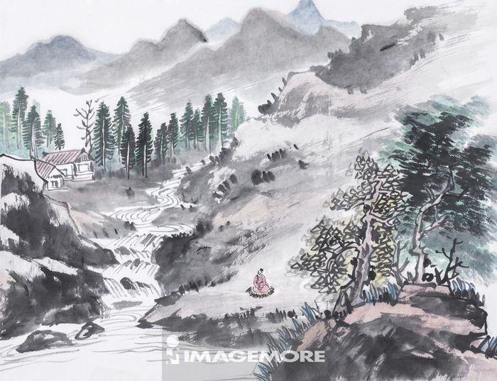 国画,山水画,水墨画